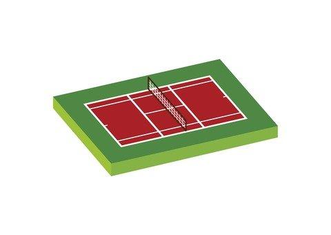 Tennis court (red)