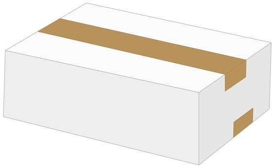 Cardboard box B white