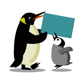 Penguin parent and child