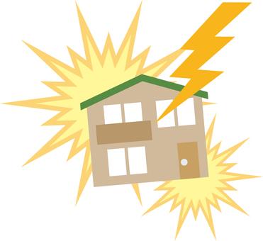 Lightning strike (housing)
