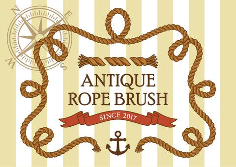 Antique rope brush