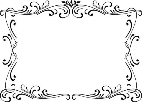 Classic simple frame frame black and white vine