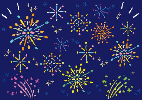 Crayon's fireworks
