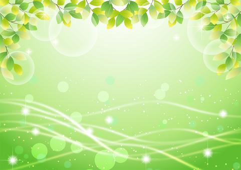 Fresh green background of glitter streamline