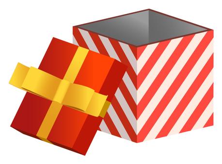 Gift box (red diagonal stripe)