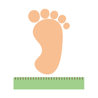 Measure the width and size of the foot