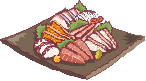 Assortment of sashimi fashionable ver