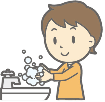 Boy - hand wash - bust