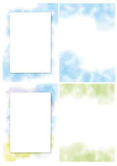 Watercolor wind background 4 kinds