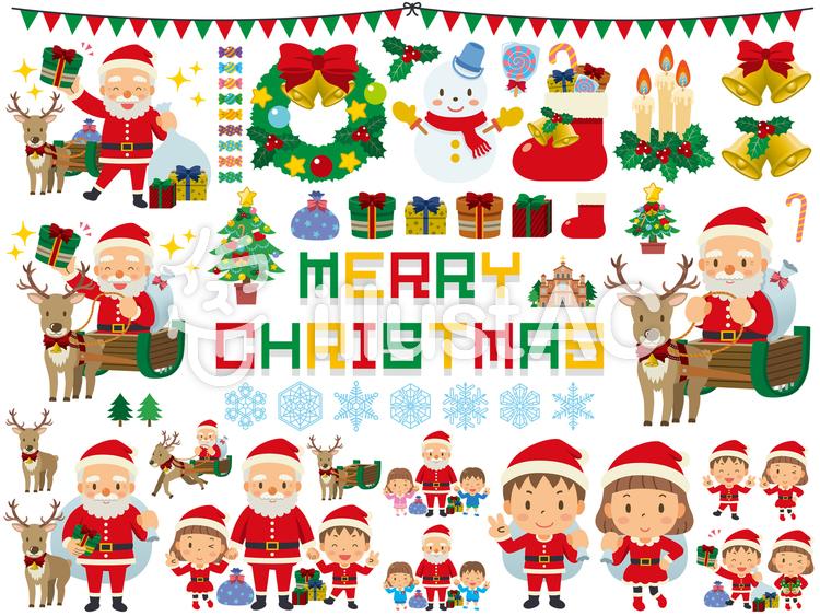 クリスマス/まとめ/セットのイラスト