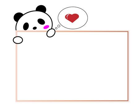 Panda Valentine Pink Frame