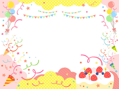 Cute atmosphere cake party frame