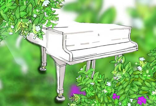 Background White Piano Grand Piano