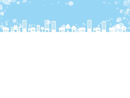 冬の街並みイメージカード