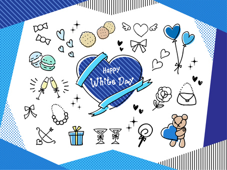 White Day Illustration Set 01