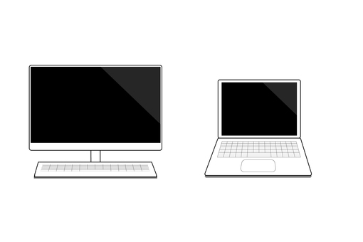 Illustration set of personal computer