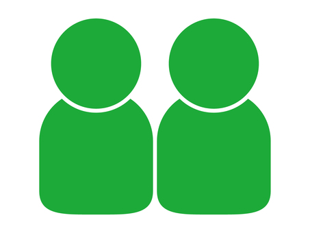 People icon (2 people) green (green)