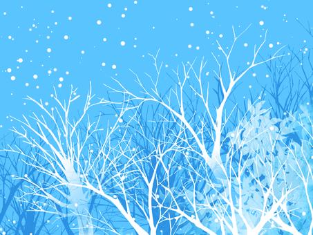 Winter landscape (blue)
