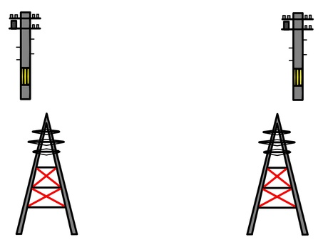 Telephone pole and tower frame