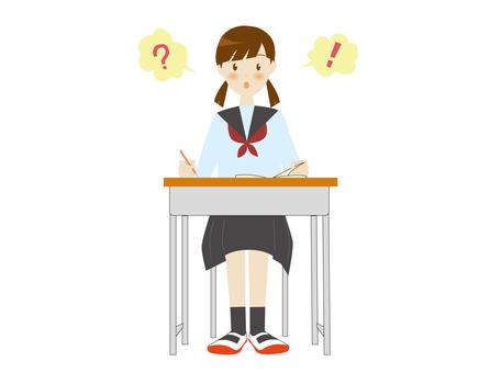 School girls in a classroom