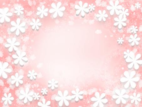 Pink background flower