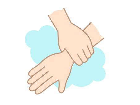 Hand washing wrist