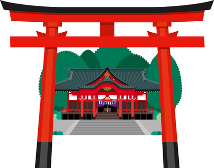 Shinto shrine torii building