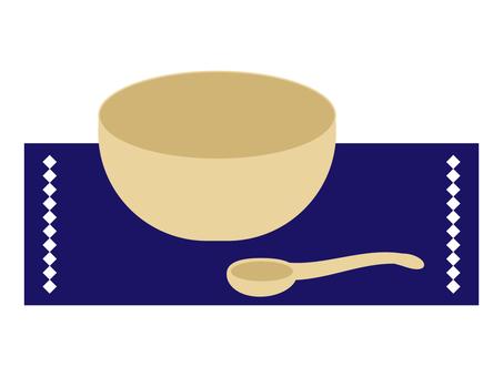 菜_湯碗和勺子