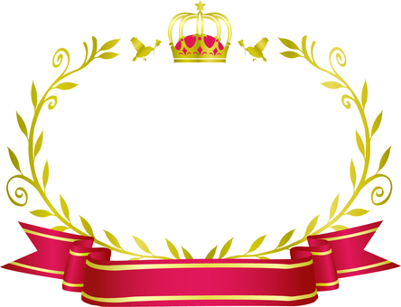 Crown and olive frame 6