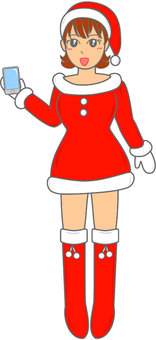 Santa Claus girls whole body 22