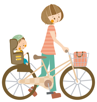 Bicycle carrying a child
