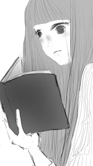 책을 읽는 소녀