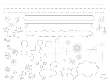 Illustration line Gray