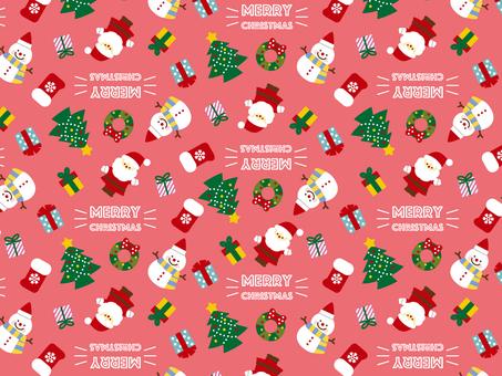 Christmas pattern pink