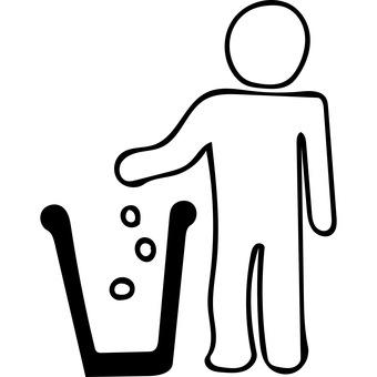Trash in the trash