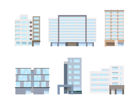 Illustration set of apartment houses