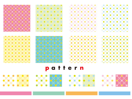 Dot pattern pattern various colors