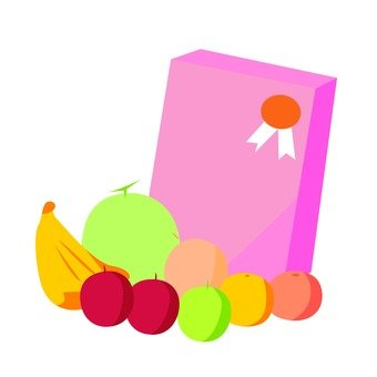 Sweets and fruits