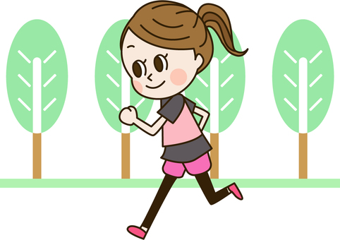 A woman who runs in the park