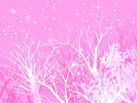 Winter landscape (pink)