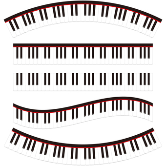 Piano keyboard line