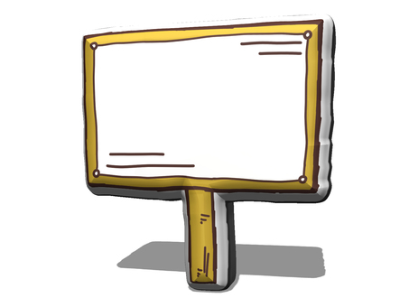 Stand-up sign -3D
