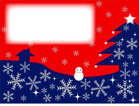 Winter frame (snow crystal)