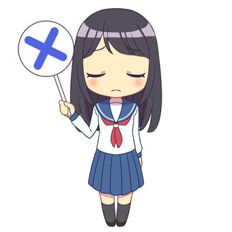 Sailor suit girl × 2