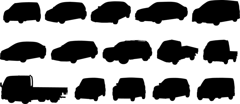 Car _ Silhouette _ Set
