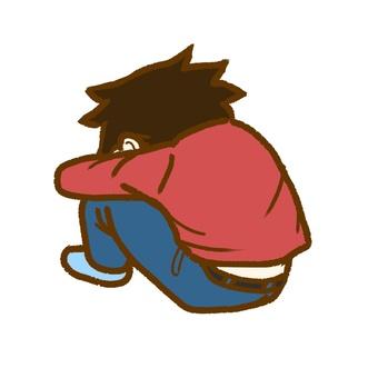 Feel down.