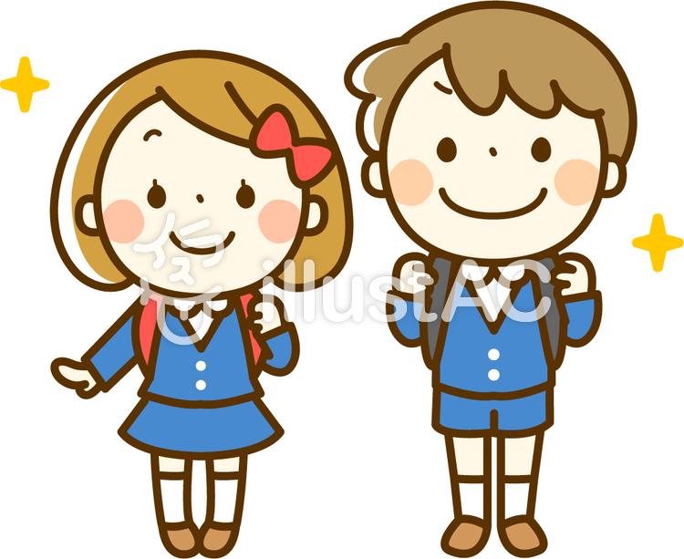入学式の男の子と女の子イラスト No 96506無料イラストなら