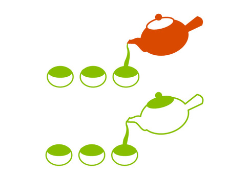 Illustration of making tea