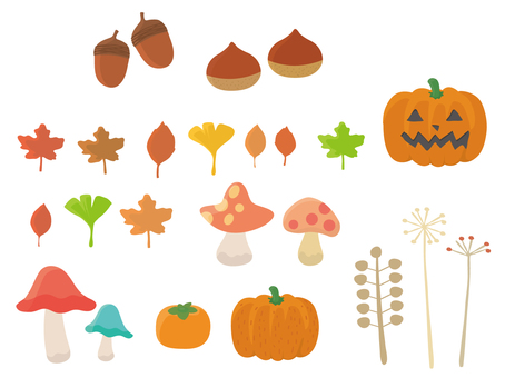 A set of autumn motifs