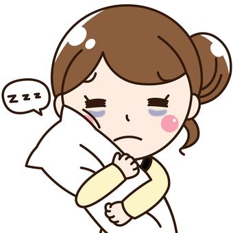Female company worker OL - sleep deprivation, sleep deprivation, sleepy